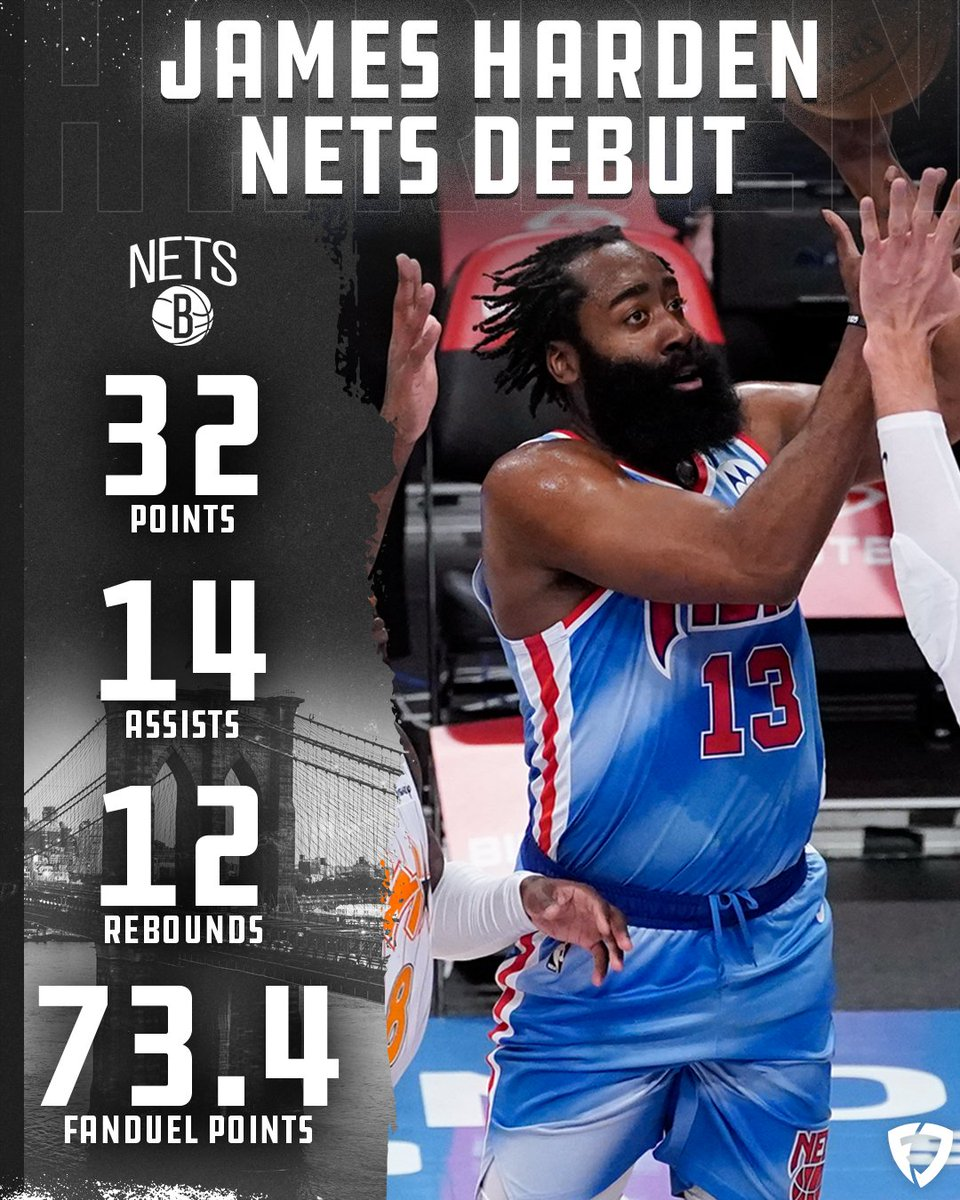 While everyone was watching football, James Harden went off in his Nets debut yesterday 🔥