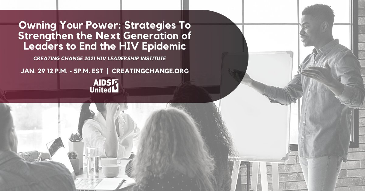 Join us at Creating Change 2021 for the HIV Leadership Institute! We'll be talking strategies for owning your power and how we all can work to #StopHIVTogether.   Register for #CC21 now: