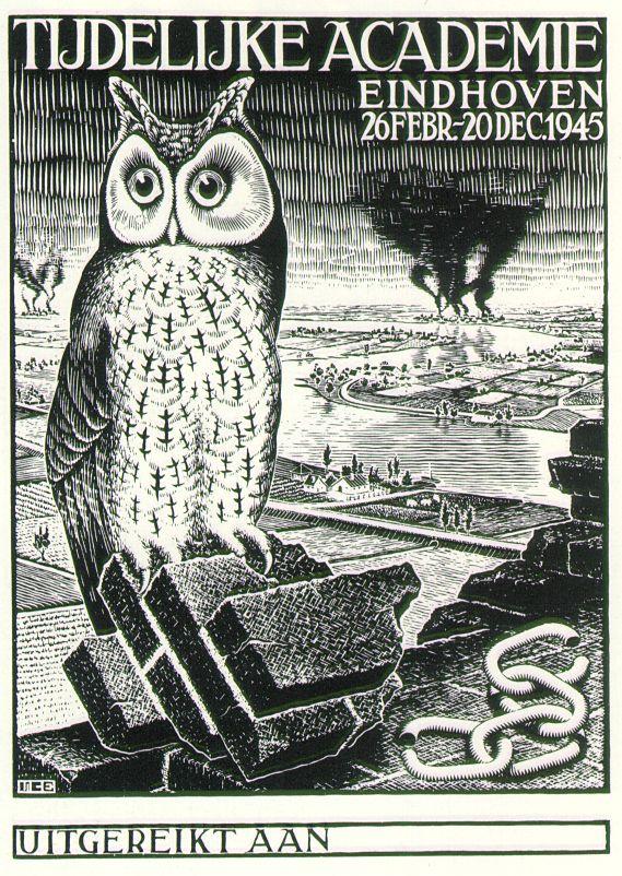 TemporaryAcademy Diploma, 1945 #surrealism #mcescher