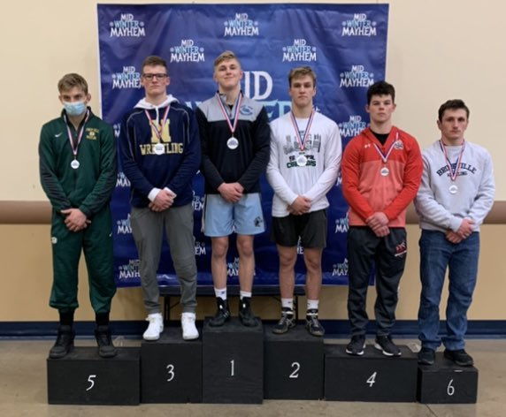 Avery Bassett Mid Winter Mayhem 1st in an extremely tough 160lb bracket (4 state medalists, 3 top 5) and a much improved Kranitz (3rd) from Norwin (watch that kid this year!)  Beat AAA#2 4-1 in finals @PAPowerWrestle @WilliamWhisler @GMUWrestling @Mitch_Rupert @NorwinWrestling