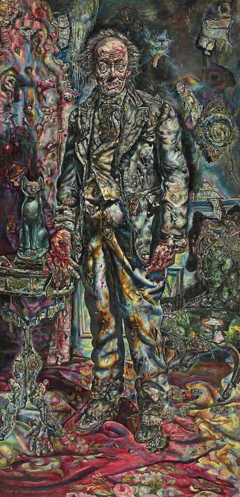 Watching myself at the mirror and feeling like I took 10 years more on my face...  The Picture of Dorian Grey Ivan Albright #Lockdown3 #horror #book #art #OscarWilde