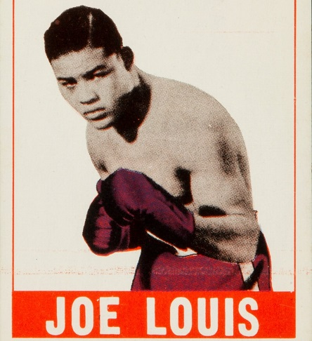 Leaf Bubble Gum card of #legendary big man king Joe Louis. Issued in 1948. If you got one in mint condition, it might fetch you some serious coin. #Heavyweight #History #Boxing #Legend #collectible
