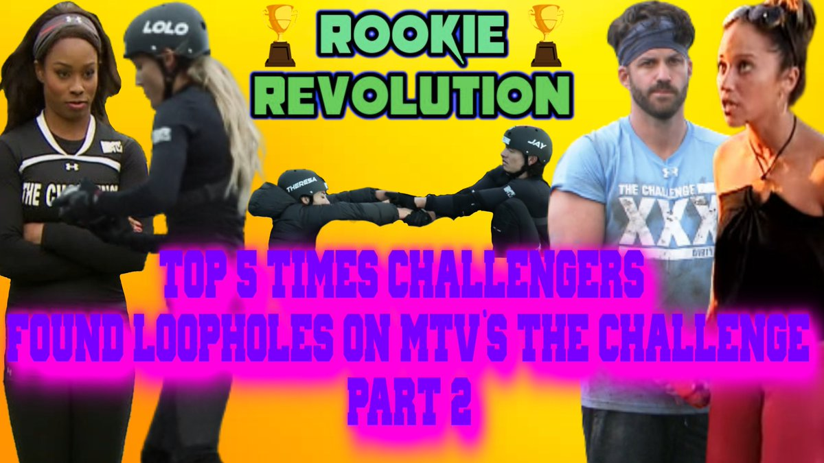 BRAND NEW CHALLENGE VIDEO!  Top 5 Times Challengers Found Loopholes on MTV's The Challenge Part 2!    Hope you all enjoy!  #TheChallenge36 #MTVChallenge #TheChallenge #ChallengeMTV