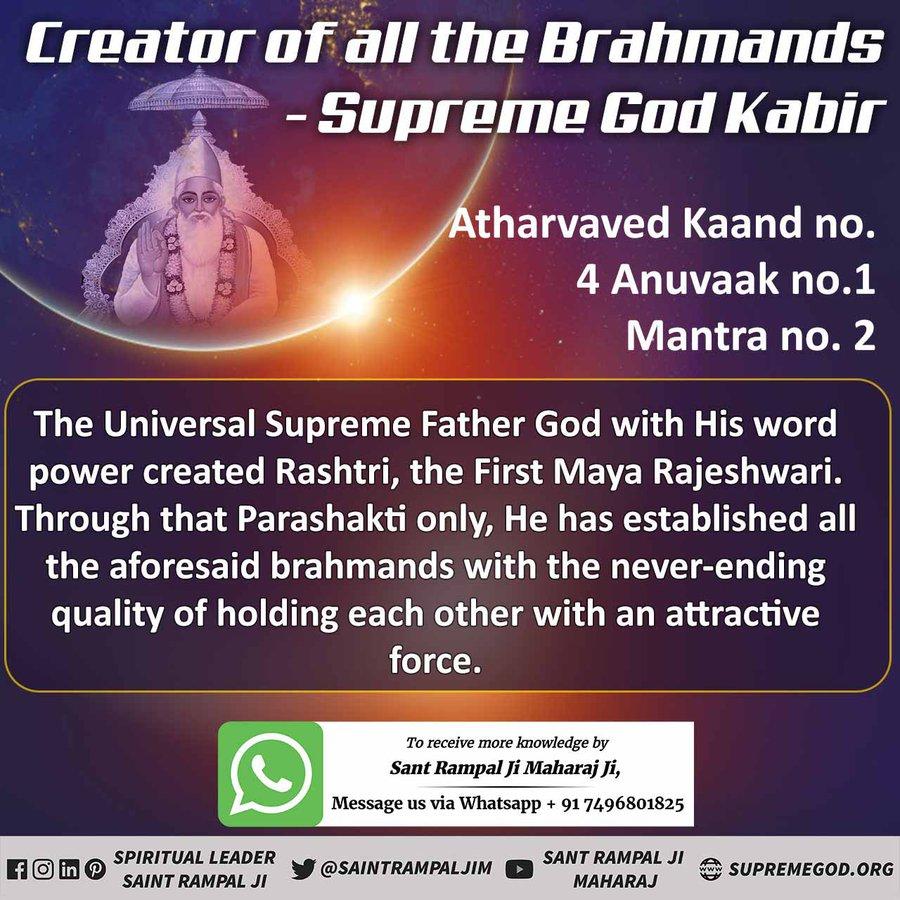 #GodMorningSunday   SUPREME GOD KABIR  IS THE CREATOR OF ALL THE UNIVERSES. -SATGURU RAMPAL JI MAHARAJ For More Information Watch Shraddha tv-2:00pm Visit Satlok Ashram YouTube Channel @SaintRampalJiM #sundayvibes