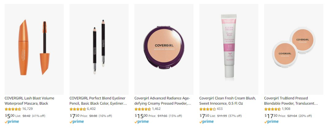 Up to 41% OFF on COVER GIRL makeup today!  I regularly post great Amazon deals on my Facebook page, so take a look:    #covergirl #Amazon #discount #makeupartist #makeup #beauty #Facebook #affiliateprogram