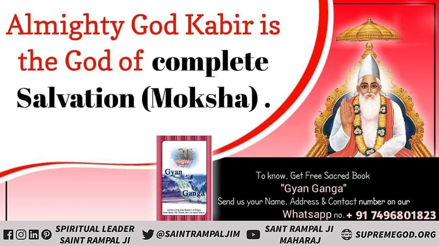 """#wednesdaythought  """"ALMIGHTY  GOD KABIR""""  God can increase the life span of a human being and cure incurable diseases. -SATGURU RAMPAL JI MAHARAJ - RIGVEDA To Know More Must Watch ANB News tv-8:30pm Visit Satlok Ashram YouTube Channel #GodMorningWednesday"""