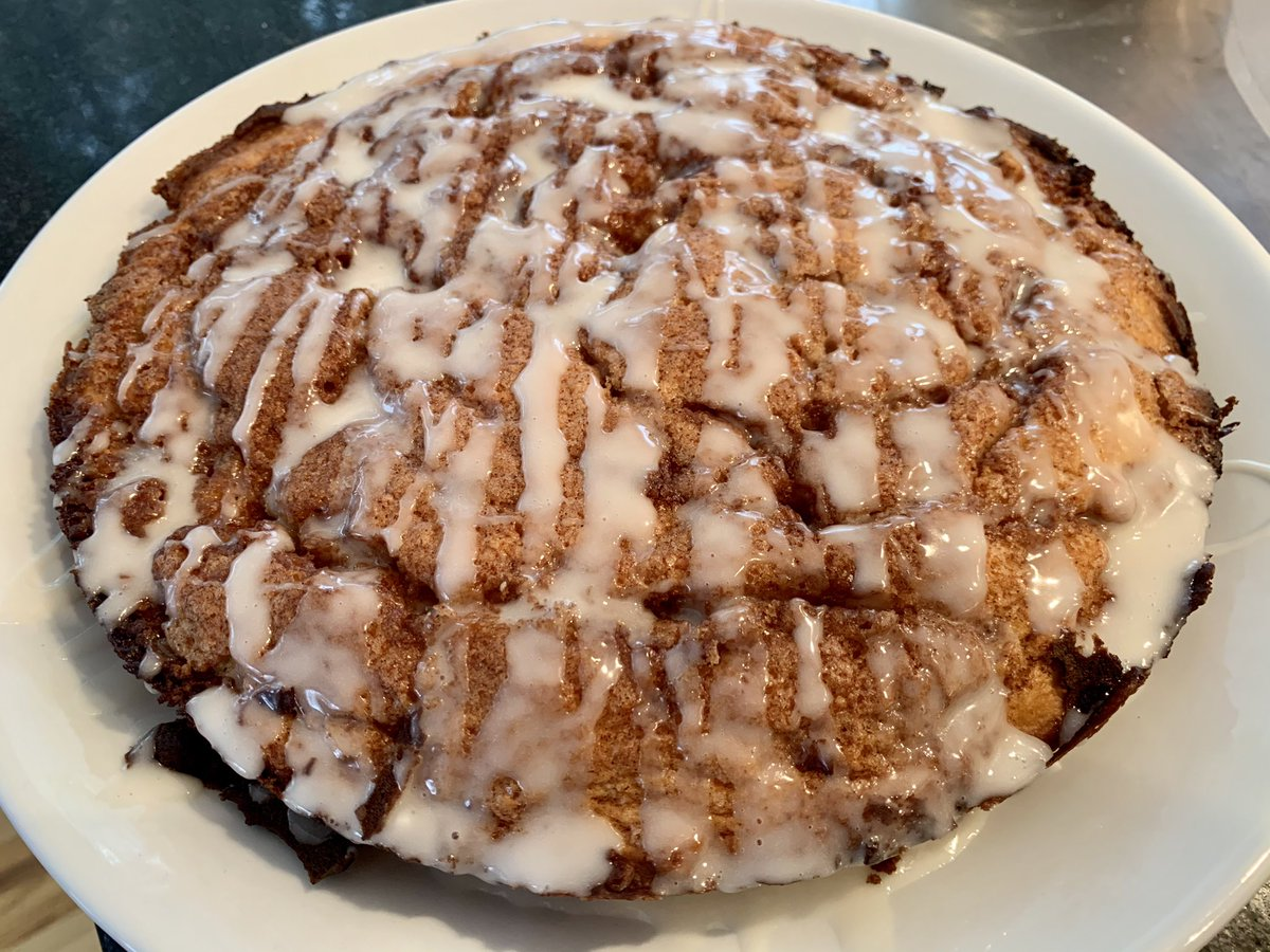 #SundayMorning Cinnamon Roll Coffee Cake. #Recipe:  #baking