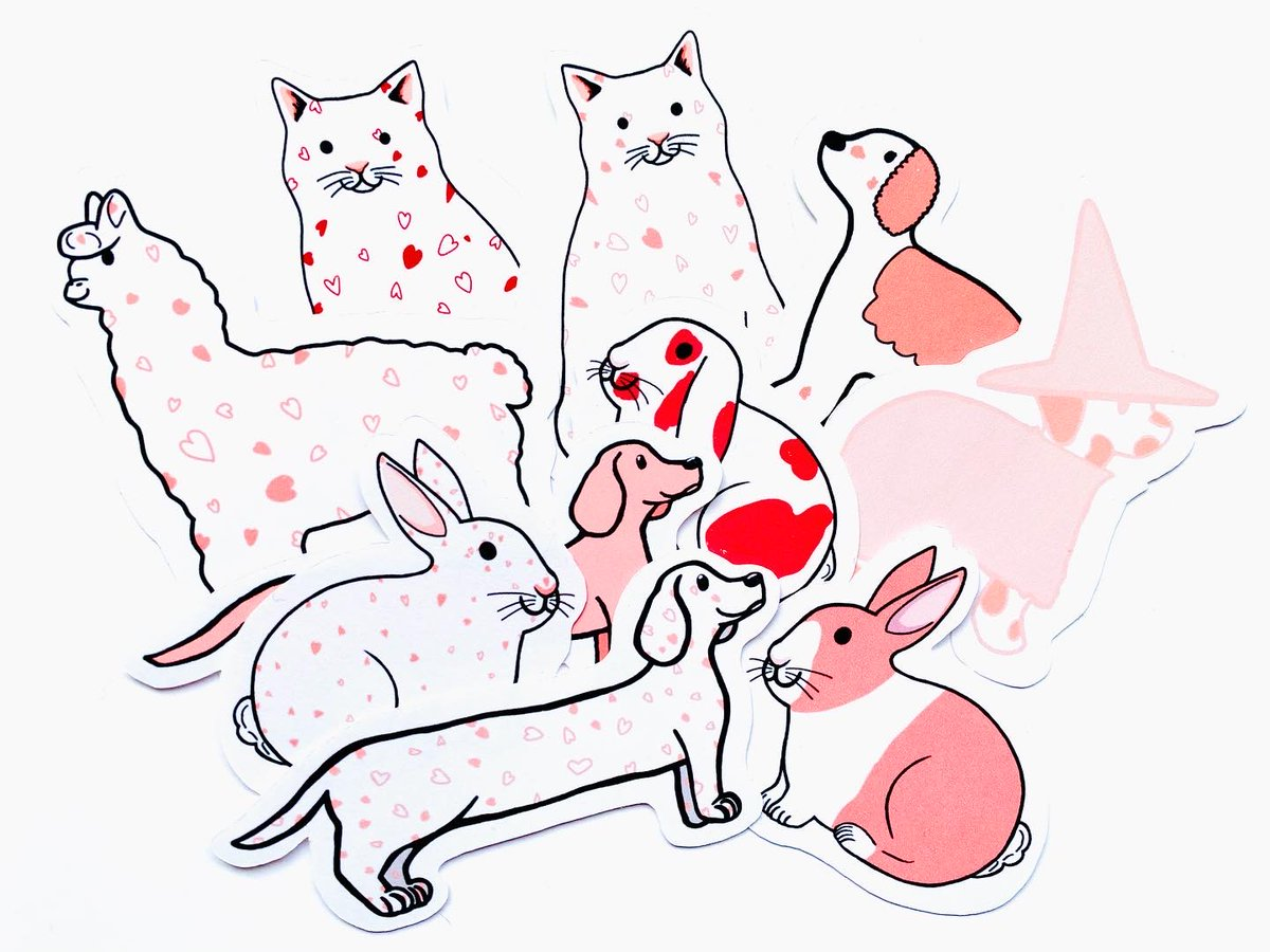 Aww aren't they cute?!😚These sweet Valentines animal  stickers are waiting to add some heart charm to your letters, notebooks and more! BIG STICKER SALE IS ALSO ON NOW in the shop! #ValentinesDay #valentinesday2021 #Sunday #SundayMorning #valentinesgifts