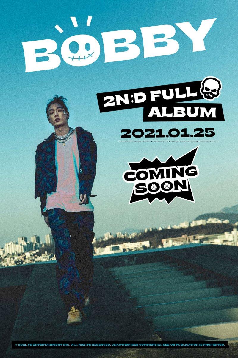 #BOBBY 2nd FULL ALBUM RELEASE POSTER  2nd FULL ALBUM ✅2021.01.25  #바비 #iKON #아이콘 #2ndFULLALBUM #RELEASE_POSTER #YG