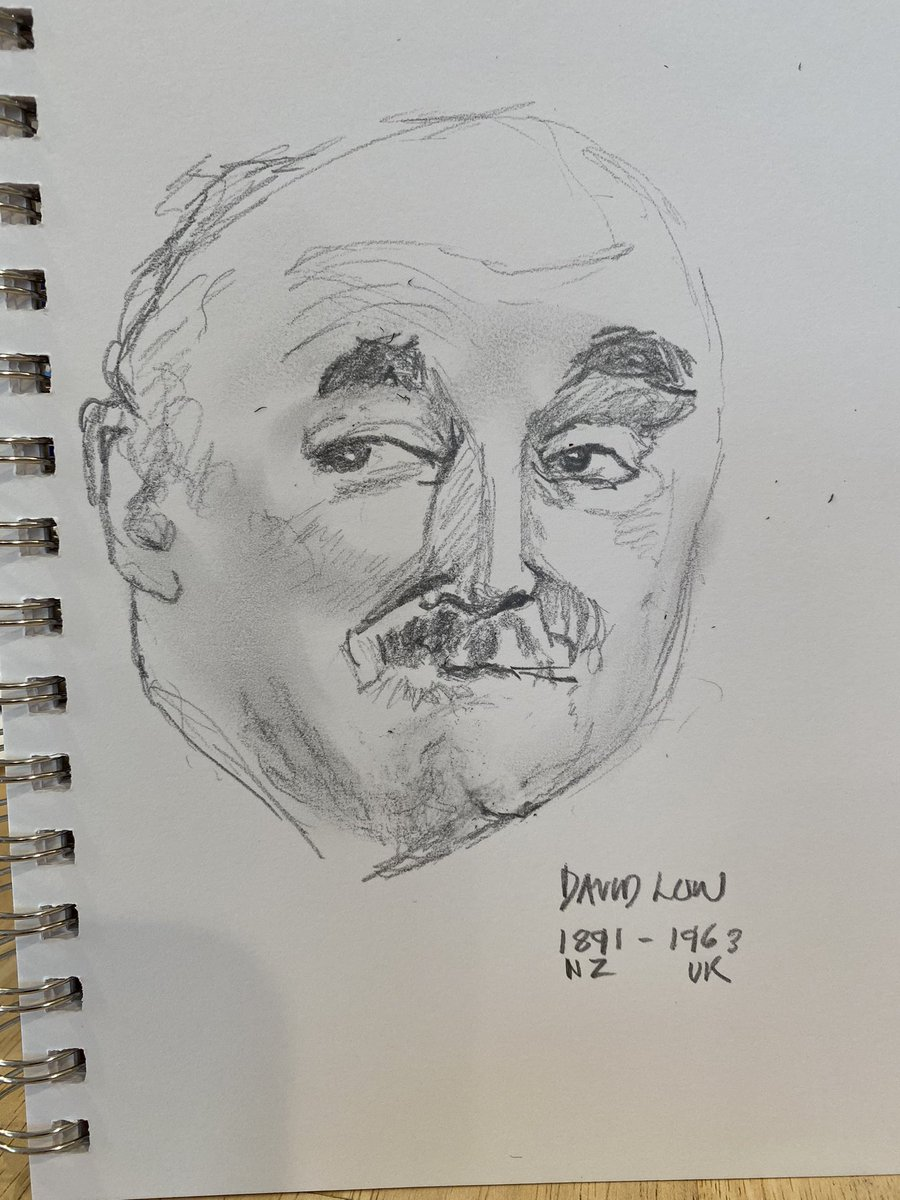 #DavidLow #legend #cartoonist h/t @t_colgate