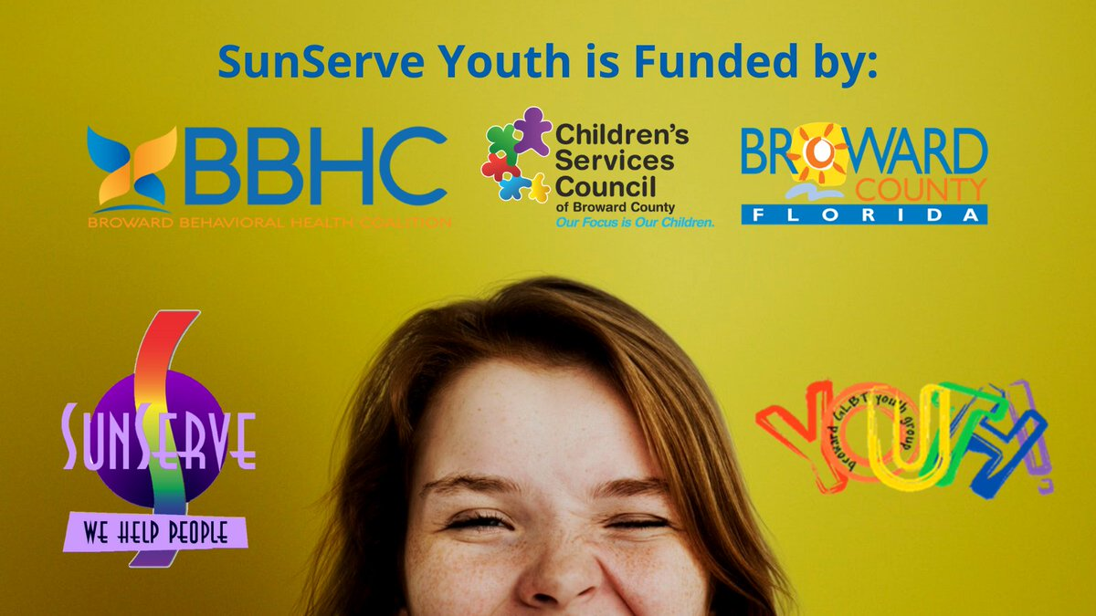 Thank you Children's Services Council Broward County Florida, Broward County, Florida, & Broward Behavioral Health Coalition for providing funding.  @cscbroward @browardbehavioralhealth @browardcountyfl⠀ #sunserve #wehelppeople #lgbtq+ #lesbian #gay #bi #trans #queer #nonbinary
