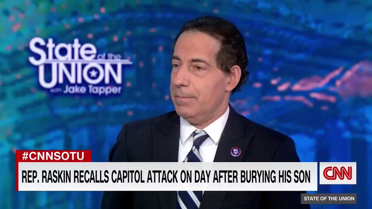 "Feed your soul: watch Jamie Raskin grieving his son and fighting for our country:  ""I'm not going to lose my son at the end of 2020 and lose my republic in 2021. It's not going to happen."" @RepRaskin ❤️💔  #Suicide Hotline 800-273-TALK"