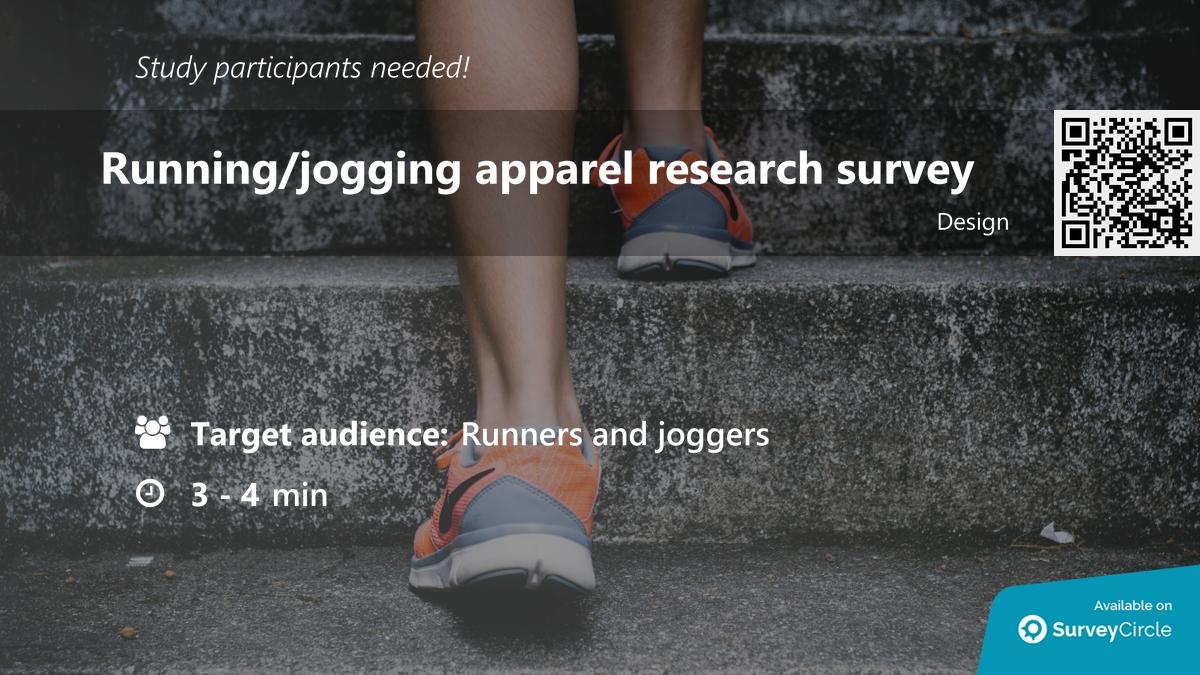 "Participants needed for online survey!  Topic: ""Running/jogging apparel research survey"" https://t.co/Qb0EpCsVCv via @SurveyCircle  #run #gear #equipment #hobby #jogging #running #RunningApparel #sports #survey #surveycircle https://t.co/IG4YOvYZol"