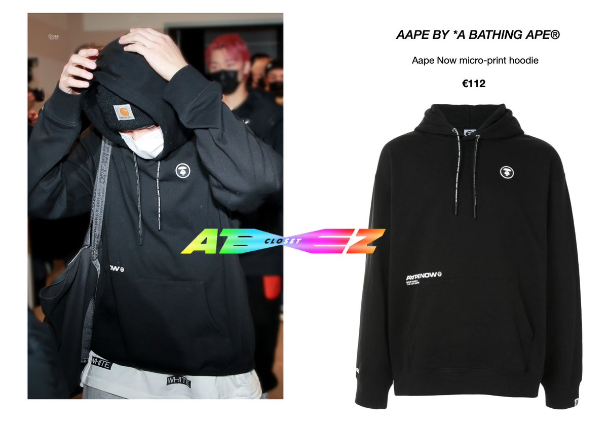 210114 - Ateez heading to Knowing Bros - Wooyoung  [wearing AAPE by BAPE black micro-print hoodie]  Available here:  @ATEEZofficial   © Gloss #ateezcloset #ateezfashion #wooyoungfashion #WOOYOUNG #jungwooyoung  #우영 #정우영  #에이티즈