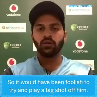 """""""Would've been foolish to try and play a big shot off him."""" - Shardul Thakur on dealing with Nathan Lyon   #AUSvIND"""