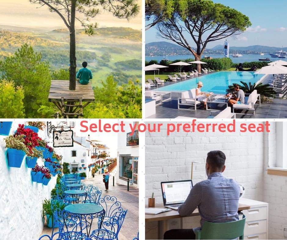 Poolside would be my preferred seating? What about you? Book your next adventure today. #rhondafirstclassadventure, #travelagent, #SundayMotivation , #sundayvibes