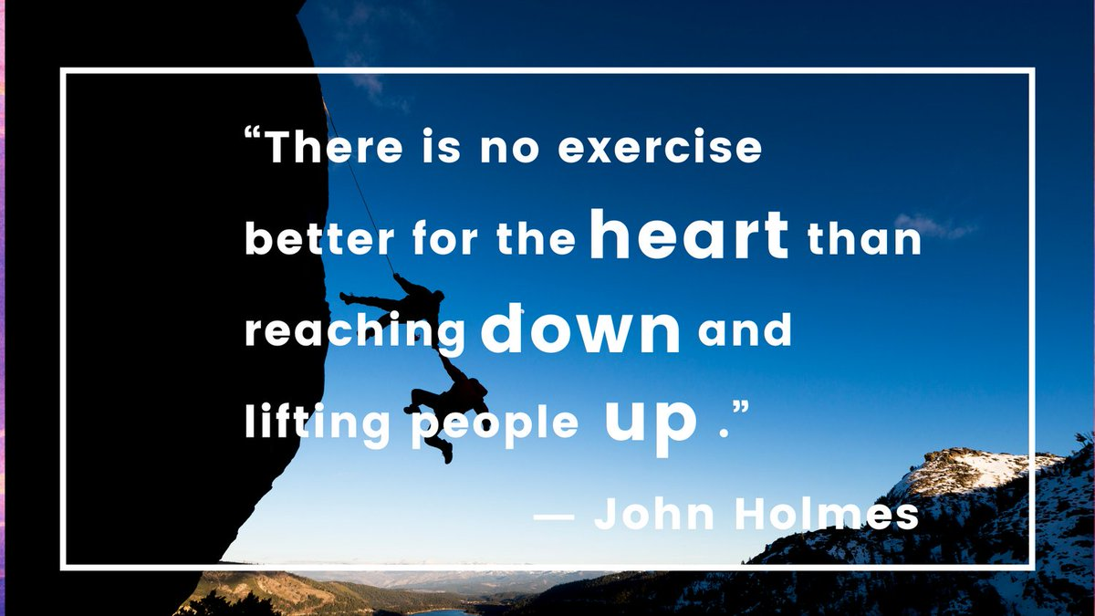 "☀️Quote of the day: ""There is no exercise better for the heart than reaching down and lifting people up."" ― John Holmes Enjoy the beautiful Sunday! #Sundayvibes #Sundaythoughts #sundaymood☀️ #sanday #beatifulday #thusday #dayoff #sunny #funday #weekend #fab #FabulousLives https://t.co/IkPzVwDTZi"