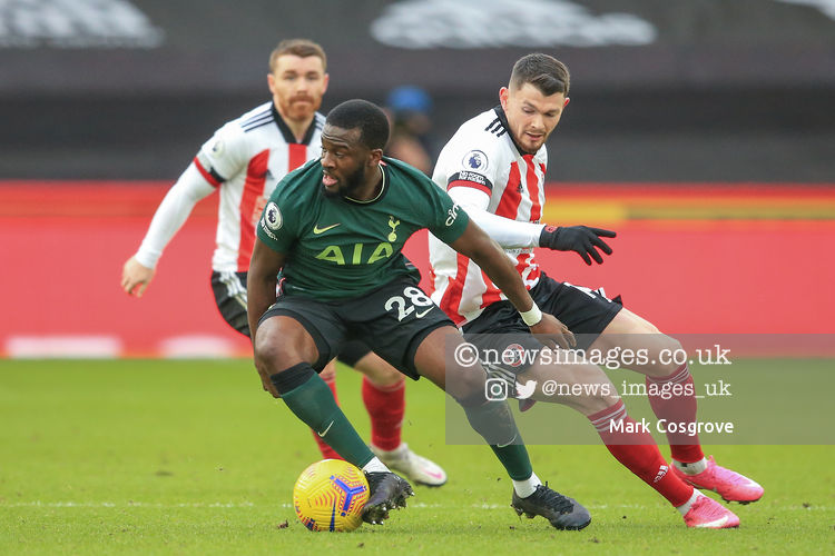 Tanguy NDombele #28 of Tottenham Hotspur in action during the game  #SUFC @SheffieldUnited @SpursOfficial #THFC #COYS @premierleague #PremierLeague @Mark_Cozy