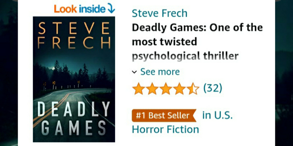 Love those little orange flags! DEADLY GAMES is the #1 Best Seller in US Horror Fiction! 'Emily Parker is dead. The police think I did it. To prove my innocence, I need to catch the real serial killer.' $.99!  🇺🇸:   #sundayvibes #SundayMorning #thrillers
