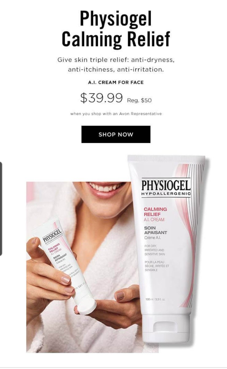 Physiogel products are available on my online store.  Check out each product in the description and ingredients to match your needs.  Shop:  #linkinbio #rperichavon #avonrep #beauty #avonlady #avonboss #makeup #physiogel
