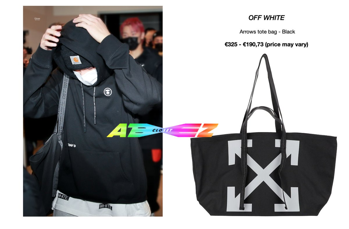 210114 - Ateez heading to Knowing Bros - Wooyoung  [wearing OFF-WHITE black arrows tote bag]  Available here: out of stock @ATEEZofficial   © Gloss_1126 #ateezcloset #ateezfashion #wooyoungfashion #WOOYOUNG #jungwooyoung  #우영 #정우영  #에이티즈