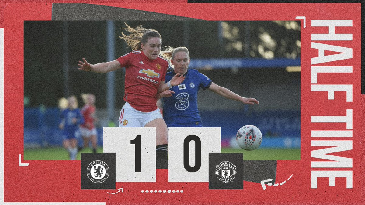 We're behind at the break, but United grew into the game and there were positive signs towards the end of the half!  #MUWomen #BarclaysFAWSL