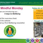 Image for the Tweet beginning: Todays Wellbeing messages, introducing AHS