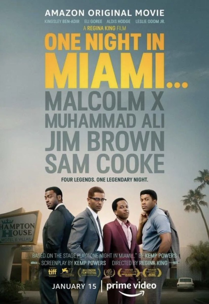 Definitely a #MLK Weekend Must-See 📺 and reading more about these legends #MalcolmX👊🏿 #MuhammadAli🥊 #JimBrown🏈 #SamCooke🎙 #CivilRights #BLM #freedom #EqualRights #history