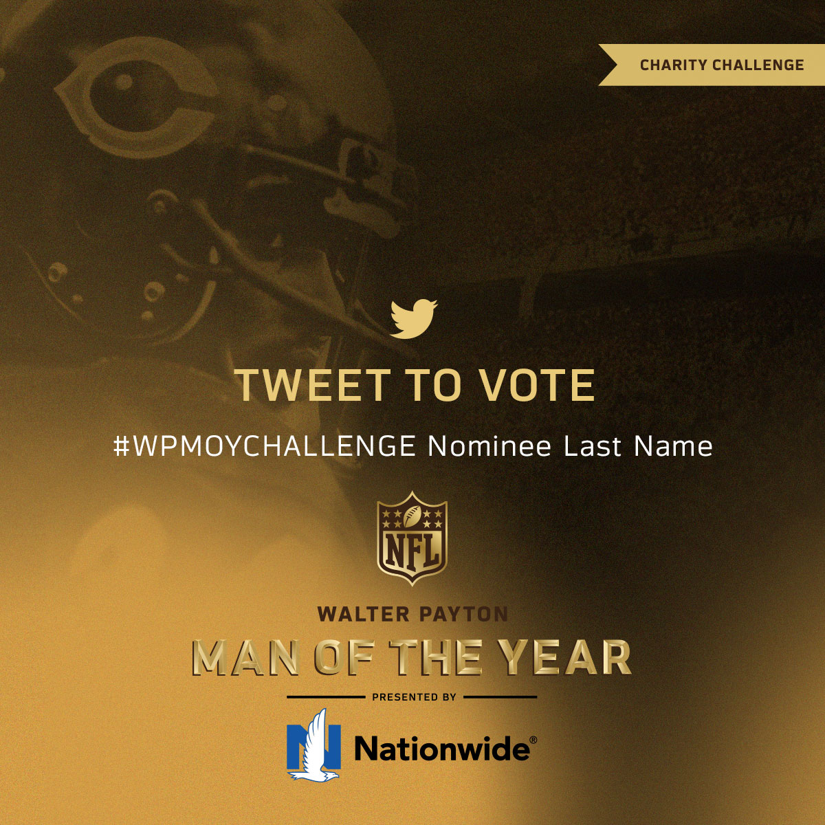 Vote for the #WPMOY nominee you want to win $25,000 for the charity of their choice.  Tweet #WPMOYChallenge and the nominee's last name to vote on Twitter!  (by @Nationwide)