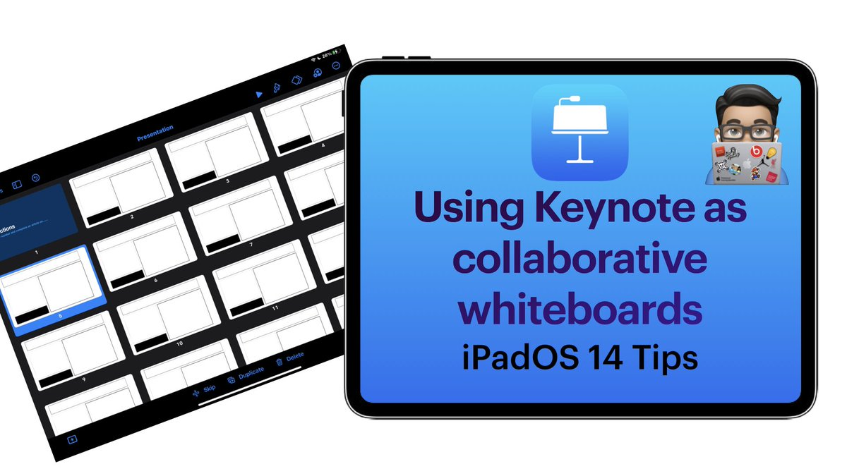 Using Keynote as a collaborative whiteboard space   🎬   #AppleEduChat #EduTwitter @HwbNews @EAS_ProfLearn @BAPrimaryUSW @UniSouthWales #Networkedchat