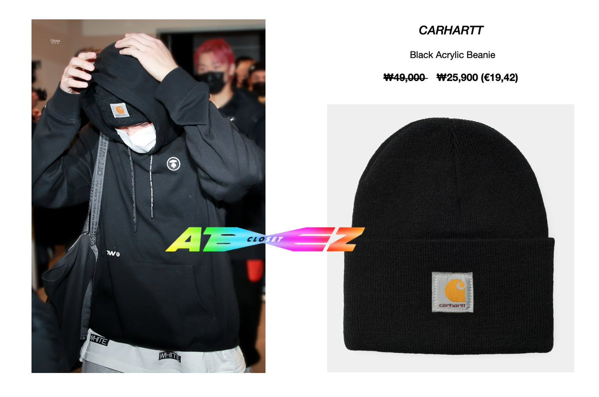 210114 - Ateez heading to Knowing Bros - Wooyoung  [wearing CARHARTT black beanie]  Available here:  or  @ATEEZofficial   © Gloss_1126 #ateezcloset #ateezfashion #wooyoungfashion #WOOYOUNG #jungwooyoung  #우영 #정우영  #에이티즈