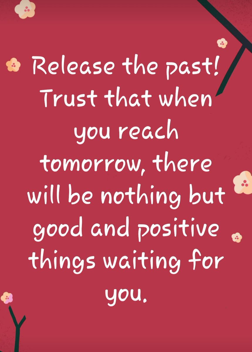 Release the past!Trust that when you reach tomorrow, there will be nothing but good and positive things waiting for you.  #Sunday #SundayThoughts #SundayVibes #SundayMotivation #SundayMorning #Inspiration