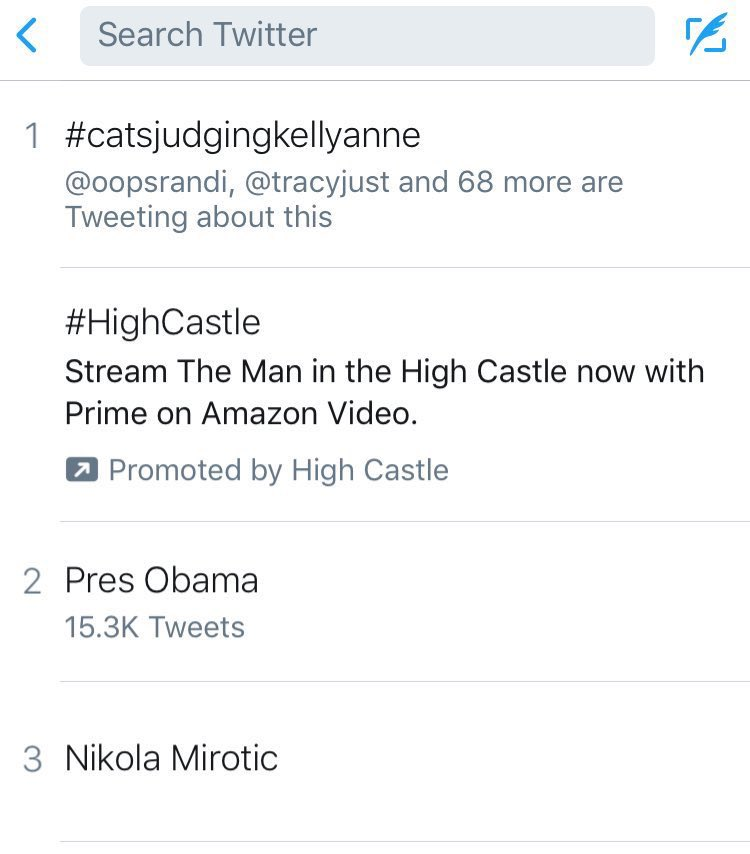 The part about Twitter that conservatives will never understand is how cats can get their strong disapproval of @KellyannePolls to trend nationally three separate times. #catsjudgingkellyanne