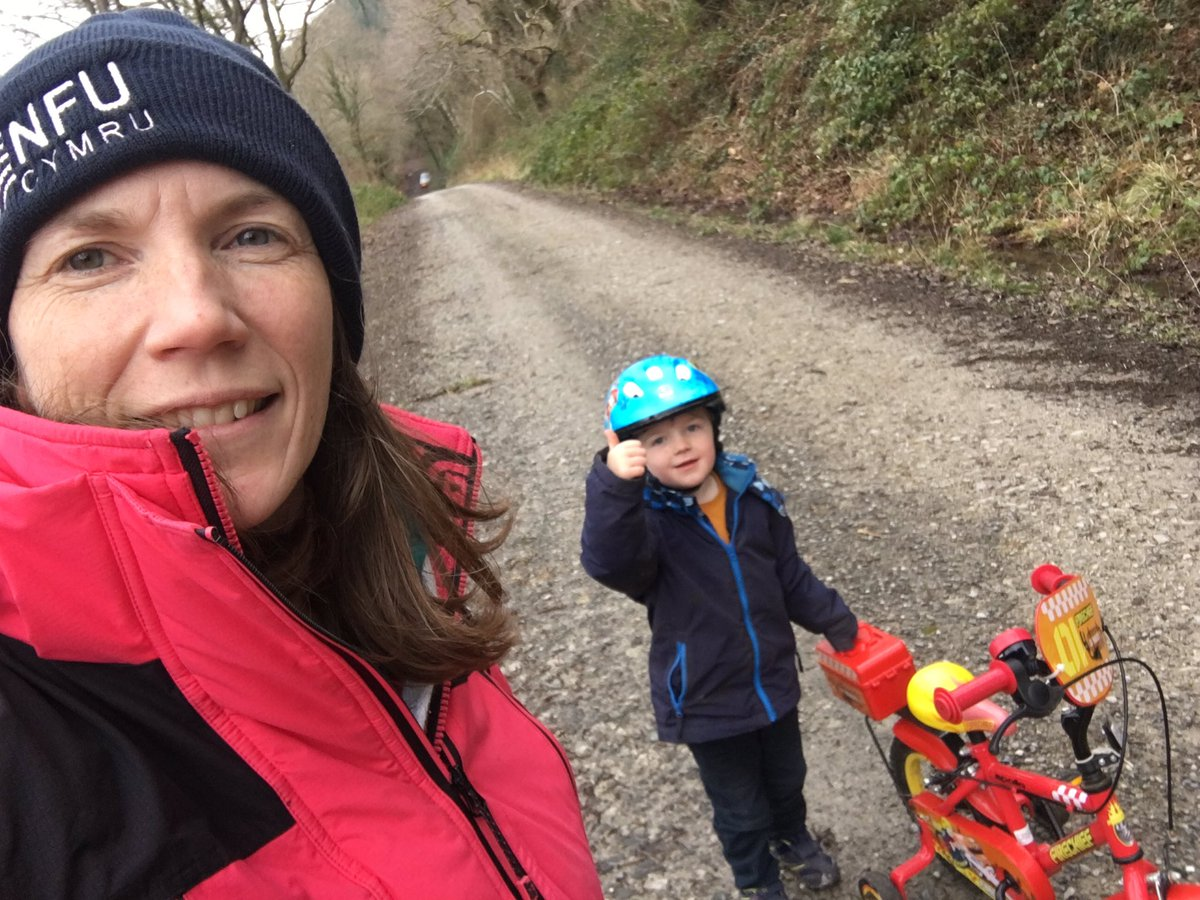 Been really hard to find a smile today. But got out with my little man on his bike and sorry for slower pace for @_Run1000 @dpjfoundation #everymilematters #teamWales