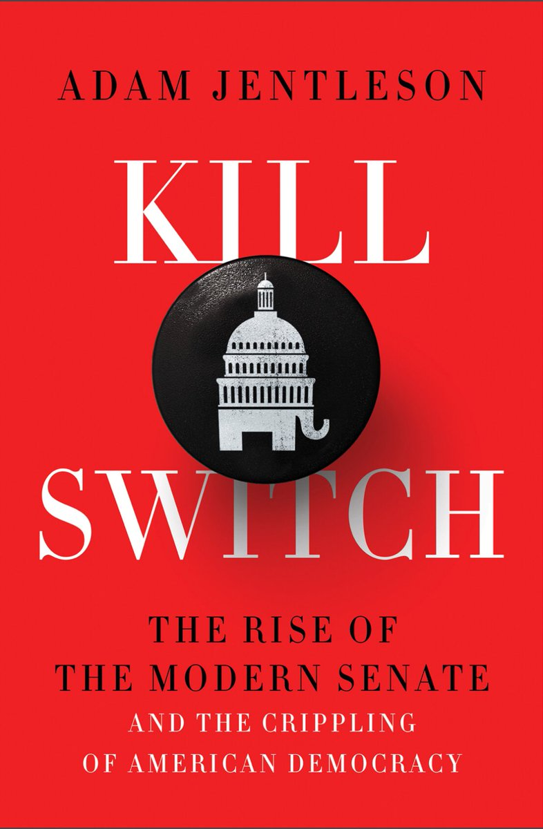 Started reading this book that just came out on the Senate and the filibuster, and the introduction alone is chicken soup for my frustrated progressive soul. It's been hard watching the Senate kill so much ever since McConnell said making Obama a one-term President was important.