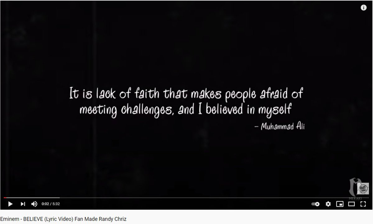 I did 2 lyric videos this month. But before they drop, I want to share the very first lyric video I did after I went solo.   @Eminem the IMPACT your lyricism has had on many lives, including mine, will always be the reason we BELIEVE.   #eminem #believe