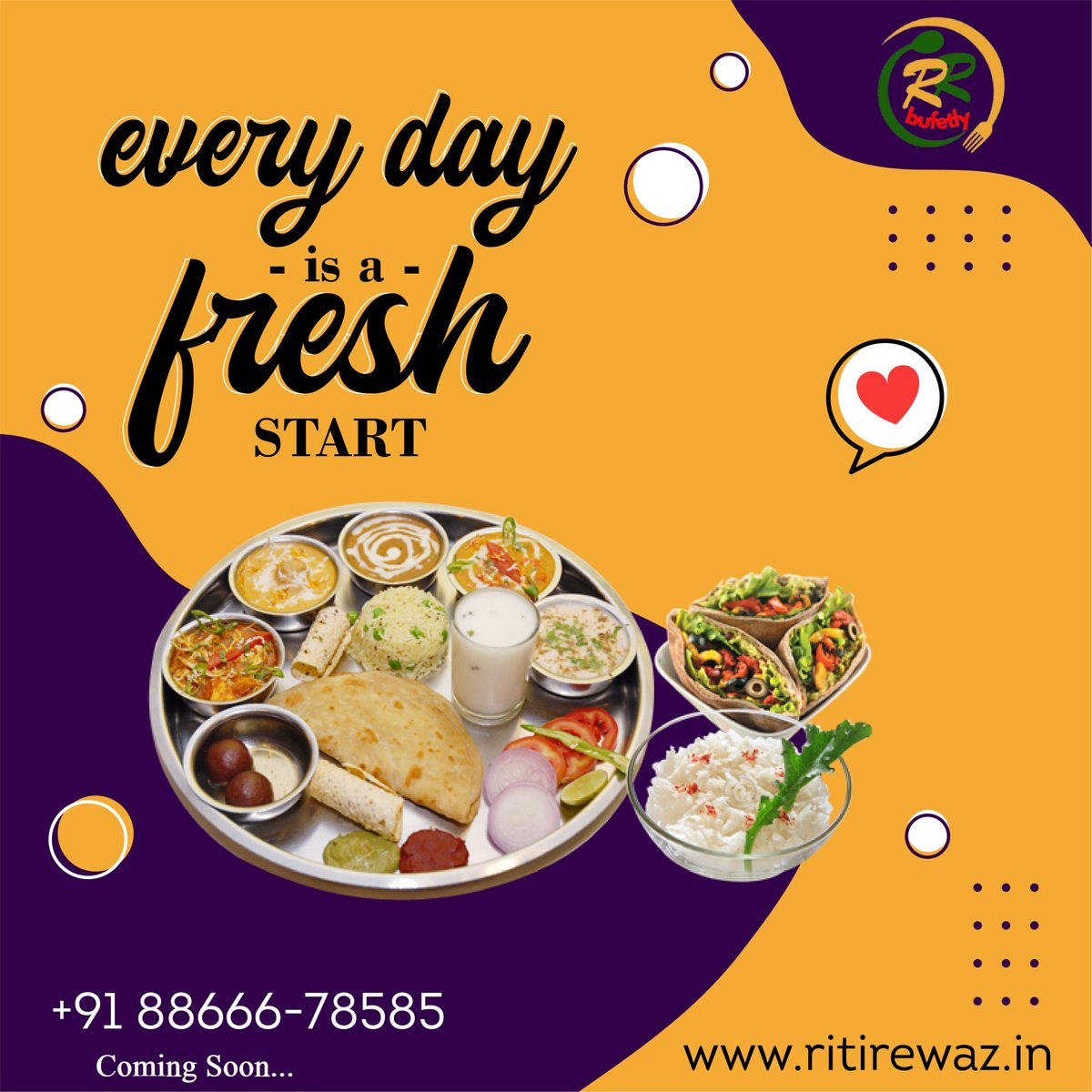Everyday is a Fresh Start.  #sundayvibes #Twitter #foodies #startup #India #Gujrat