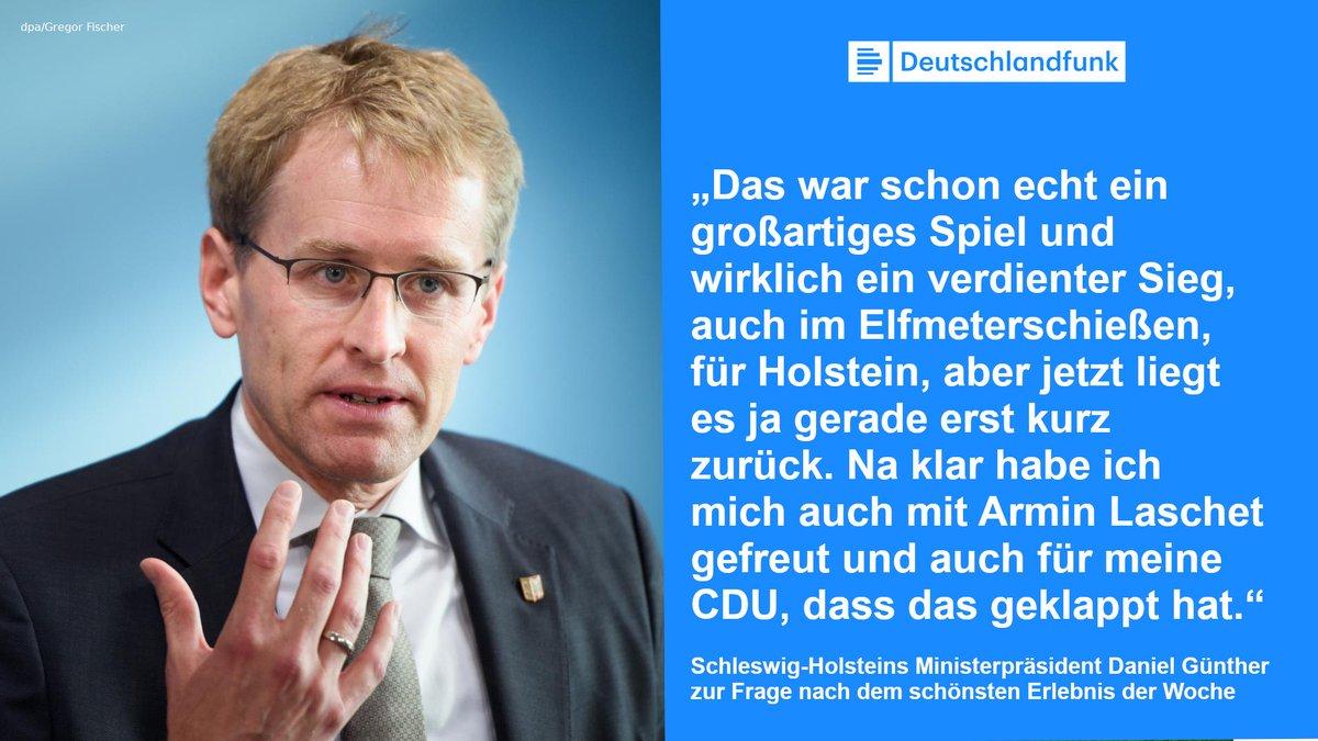 .@stephandetjen fragt Schleswig Holsteins MP, was schöner war: Kiels Sieg gegen Bayern im Pokal oder die Wahl von Armin #Laschet. Daniel Günther ist Bayern-Mitglied, die Antwort fällt ihm dennoch schwer. #cdupt21 #KSVFCB  ➡️ @dlf @SH_CDU @Holstein_Kiel