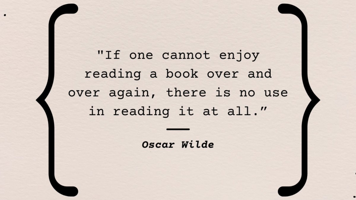 What book can you read over and over again?  #oscarwilde #bookquote #favoritebook
