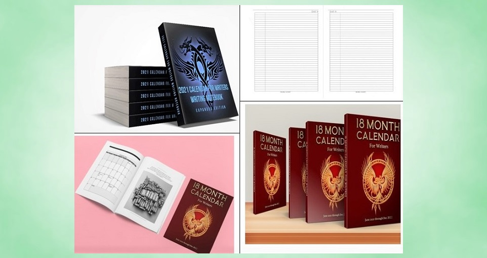 #Calendar For #Writers NEW low prices! #HappyNewYear On sale #Amazon USA  2021 Expanded Ed (8x10,362pp incl Butterflies CFW +272pp Notebook)  18Mo CFW (diff from Butterflies CFW) w/bonus months from Jan 2021-Dec 2022! + note pp (8x10,180pp)   @heath_and_bog