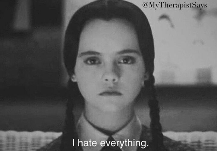 #mycurrentmood #WednesdayMotivation #wednesdaythought #addamsfamily #ihateeverything 🖤