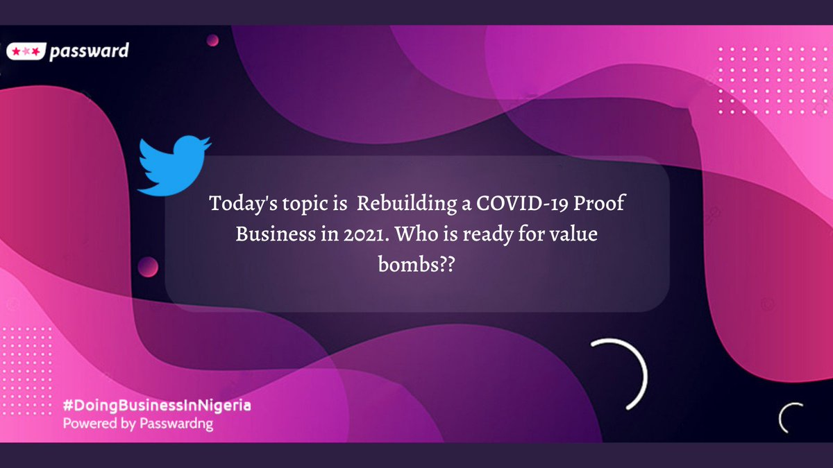 Here's our topic for today #doingbusinessinNigeria #PasswardNG #sundayvibes
