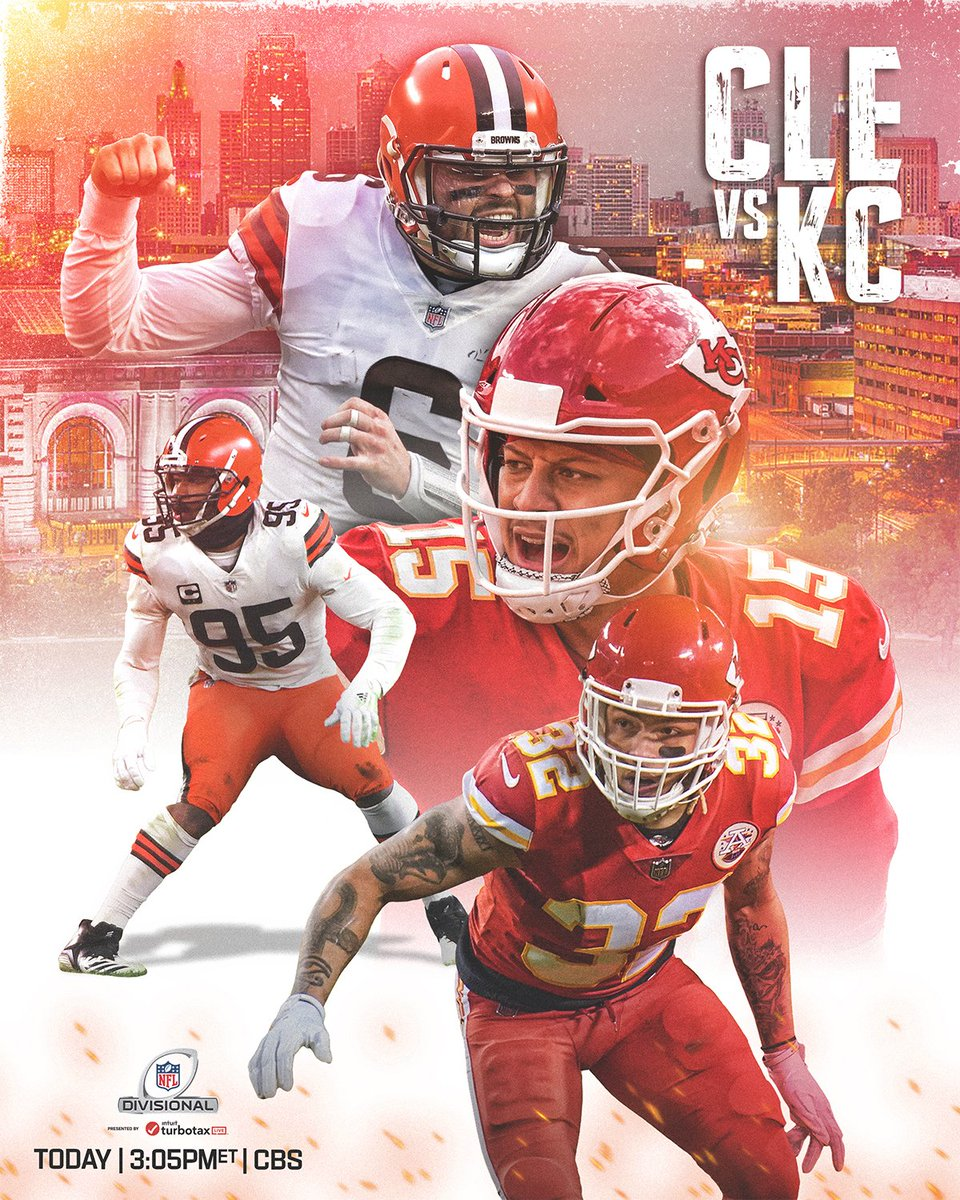 More #NFLPlayoffs action on the way! 🔥   #WeWantMore | #RunItBack   📺: #CLEvsKC -- TODAY 3:05pm ET on CBS 📱: NFL app // Yahoo Sports app