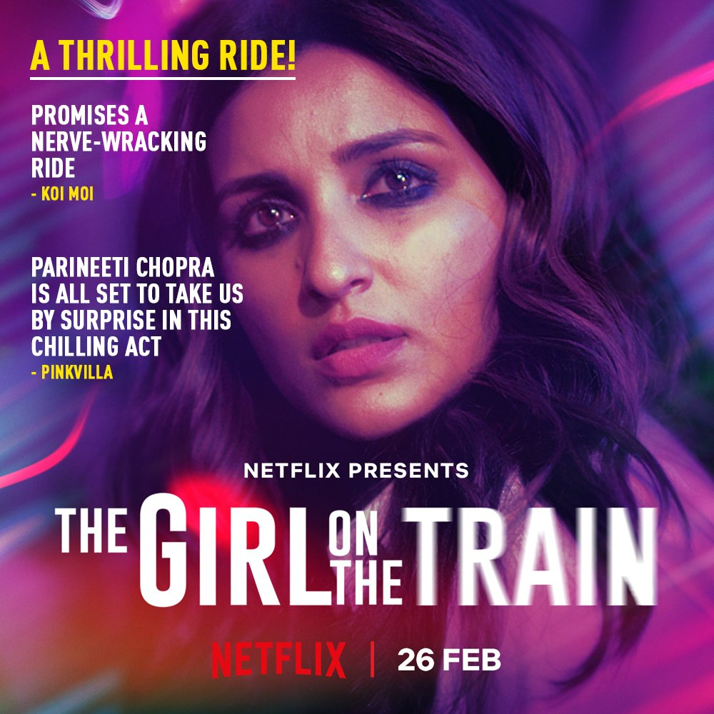 Raving reviews pouring in as the ride gets closer! #TGOTT premieres 26th Feb, only on Netflix.    @ParineetiChopra @aditiraohydari @IamKirtiKulhari @avinashtiw85 @tota_rc @SHAMAUN@ribhudasgupta @Shibasishsarkar @amblin @ZeeMusicCompany @NetflixIndia