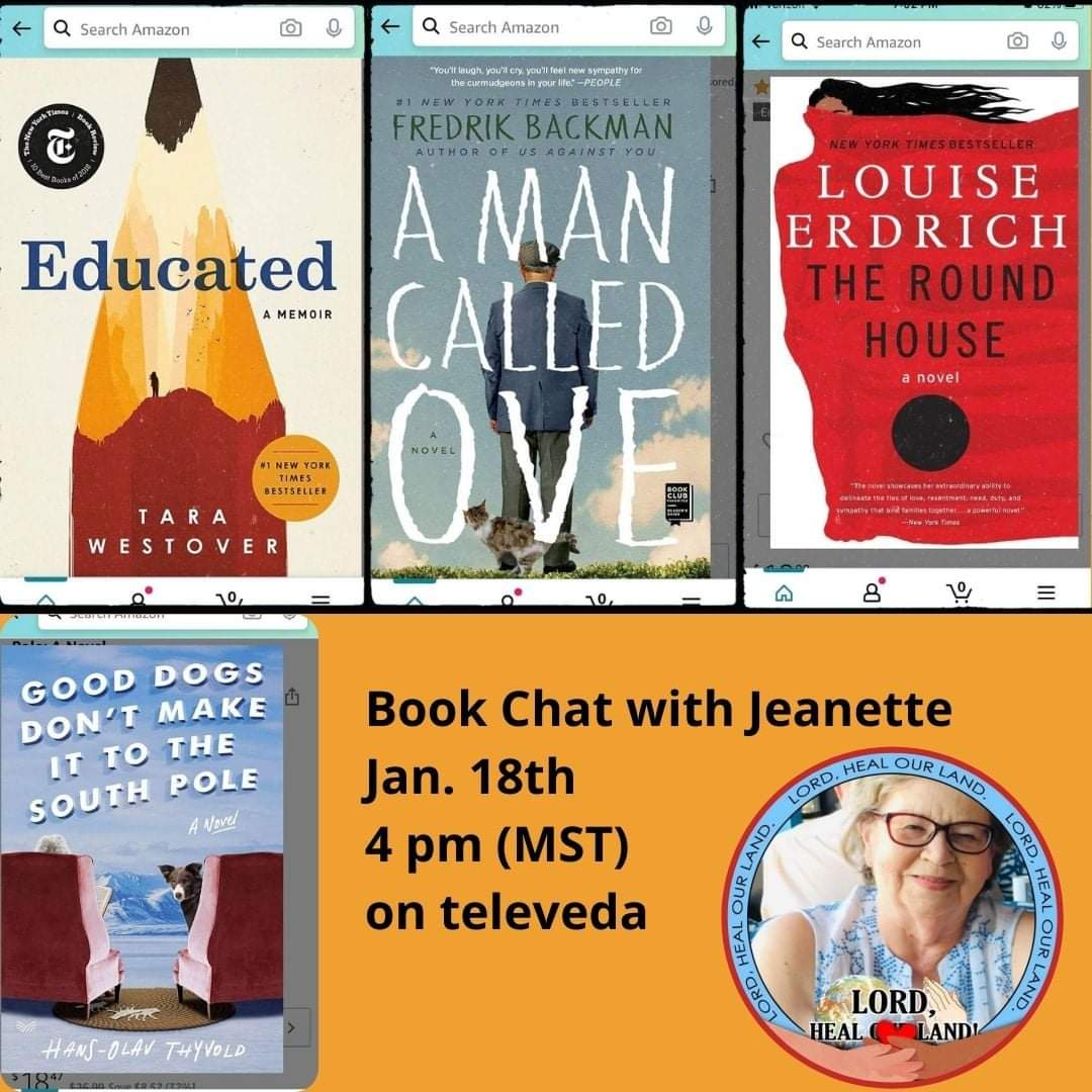 Book Chat with Jeanette is coming up tomorrow at 4 pm (Mst) at  🥰💯#sundayvibes