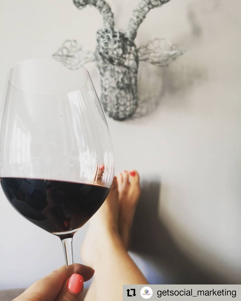 """@GetSocialM has the right idea....  Will you be joining Danélle?  """"It's time to relax with a glass of the award-winning @moresonwinefarm 2018 Widow Maker Pinotage.  👣Feet up ✔️ 🍷Glass of wine ✔️ 📗Book in the other hand ✔️""""   #sundayvibes #feetup #glass #redwine #savesawine"""