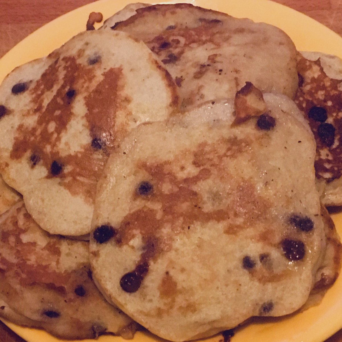 banana pancakes & chocolate chai tea ☕️  #sundayvibes