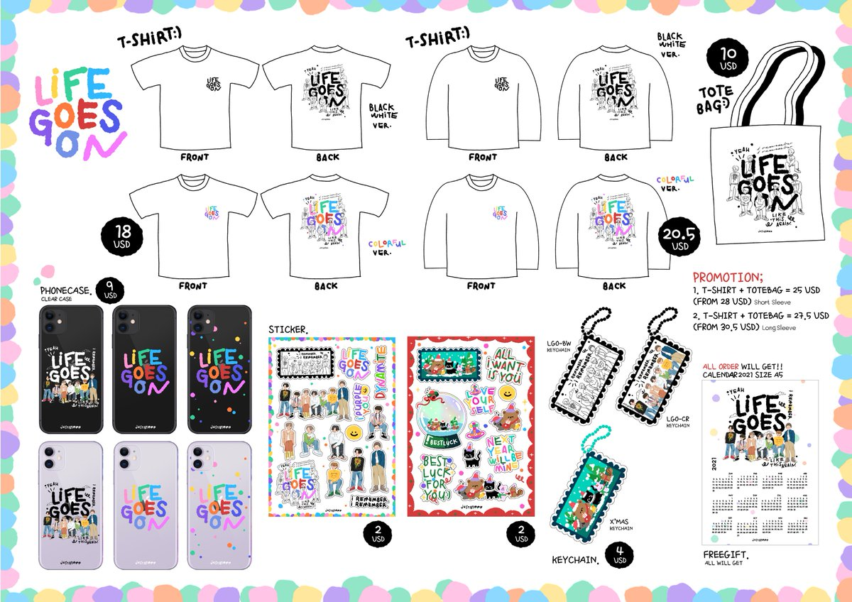 [HELP RT] 🙏🏼  🇮🇩INA GO - 'LGO' Goods Collection by @justbymmn   💸50.000 IDR - 590.000 IDR 📅DOP : 30 Januari 2021 ❎EMS TAX (Thailand - INA)  🛒Order :  Read details please 🙏🏼  #BTS #FANART