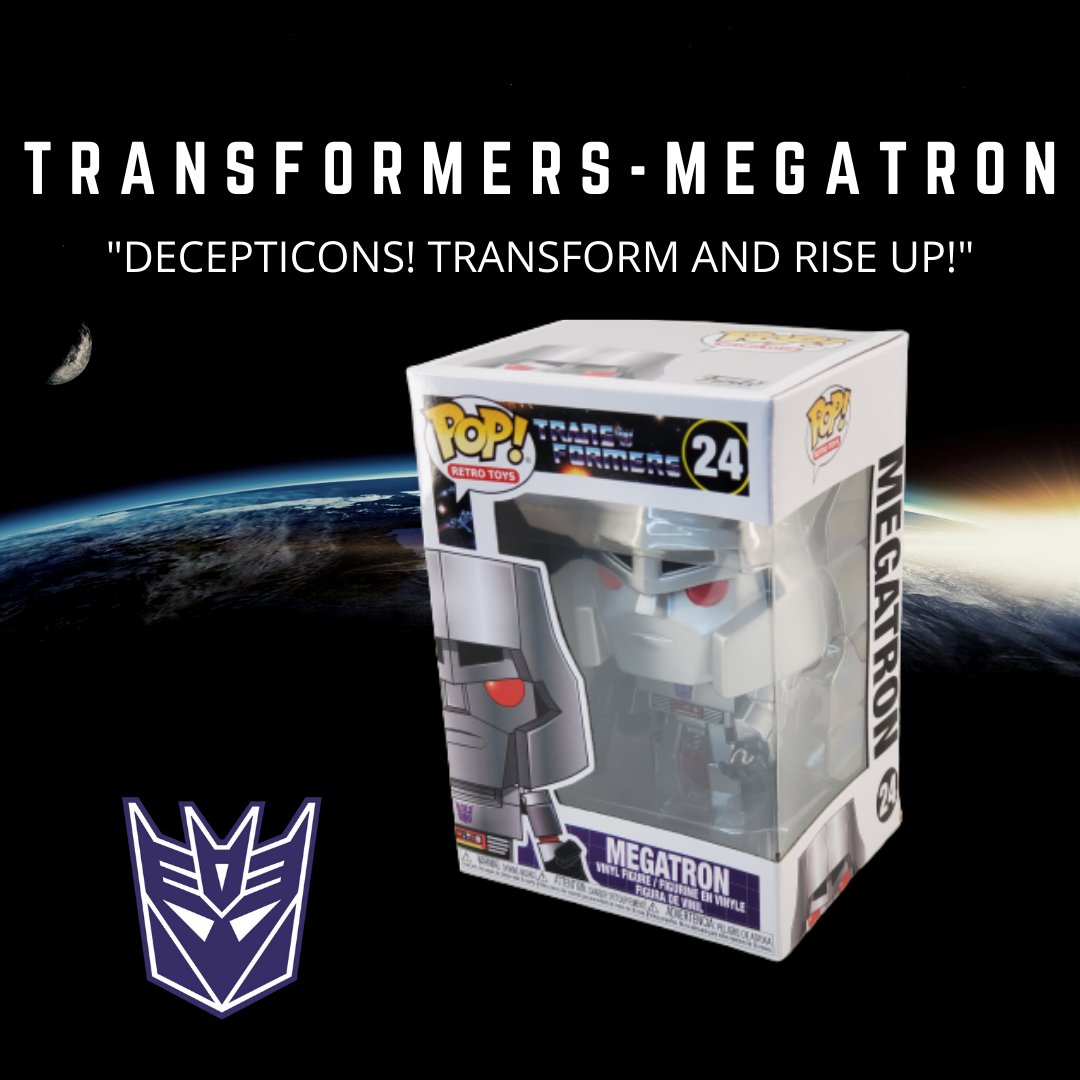 """Megatron """"Decepticons! Transform and rise up!"""" - Join forces with the Decepticons or the Autobots? Which side will you choose?  Buy yours now @    #funkopop #funko #originalfunko #funkocollector #transformers #decepticons #autobots #megatron #optimusprime"""
