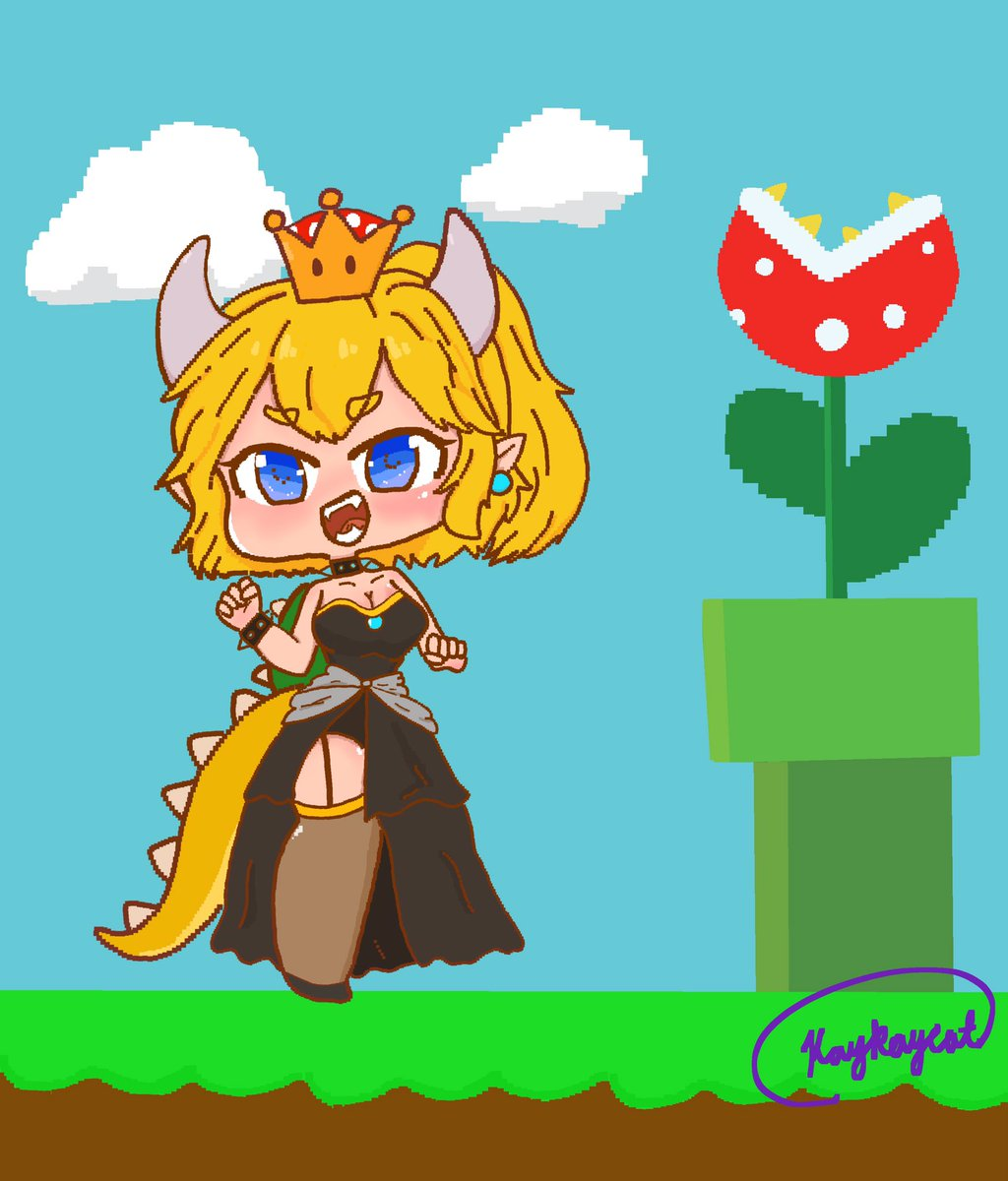 My Bowsette drawing from last year #bowsette #fanart